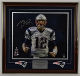 Tom Brady 20x24 Autographed Framed Super Bowl 49 Photograph TriStar & Steiner