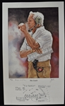 Bill Walsh Autographed Limited Edition Lithograph