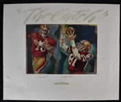 "Joe Montana & Dwight Clark Dual Signed Limited Edition ""Catch"" Lithograph"