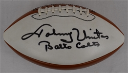 Johnny Unitas Autographed & Inscribed Football