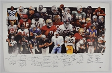 NFL Hall of Fame Legends Signed Limited Edition Lithograph w/45 Signatures PSA/DNA