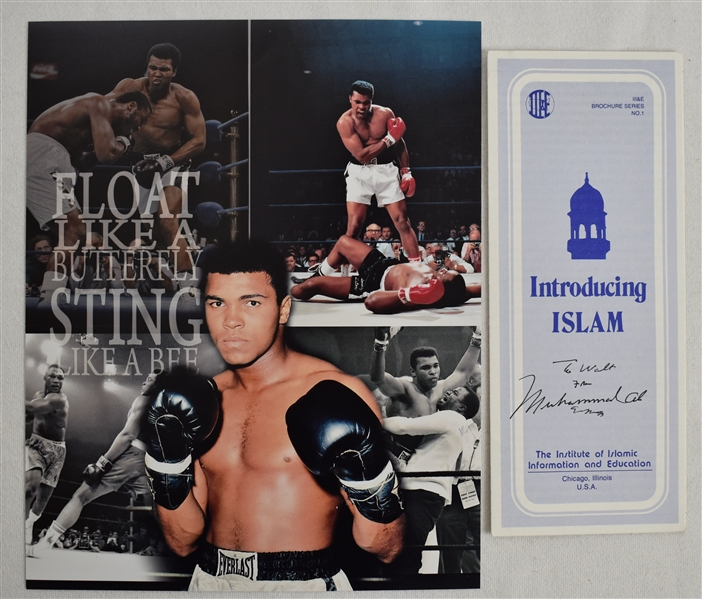 Muhammad Ali Autographed Islamic Pamphlet & Photo