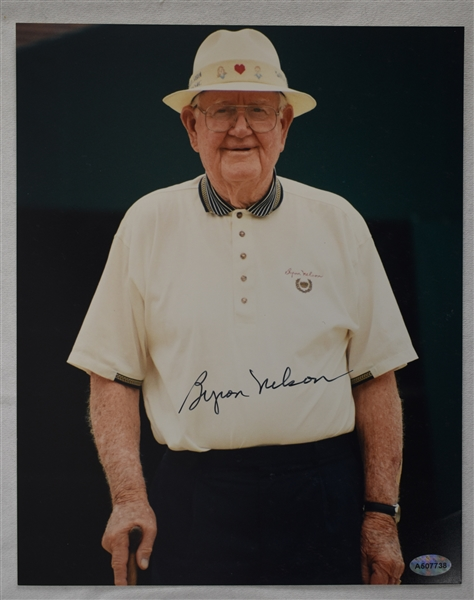 Byron Nelson Autographed 8x10 Photo