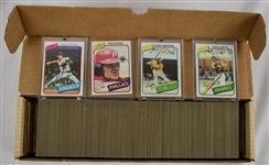 Vintage 1980 Topps Baseball Card Set w/Rickey Henderson Rookie