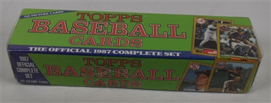 Vintage 1987 Topps Set & Traded Baseball Card Sets