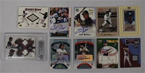 Collection of 10 Game Used & Autographed Cards w/Dennis Eckersley