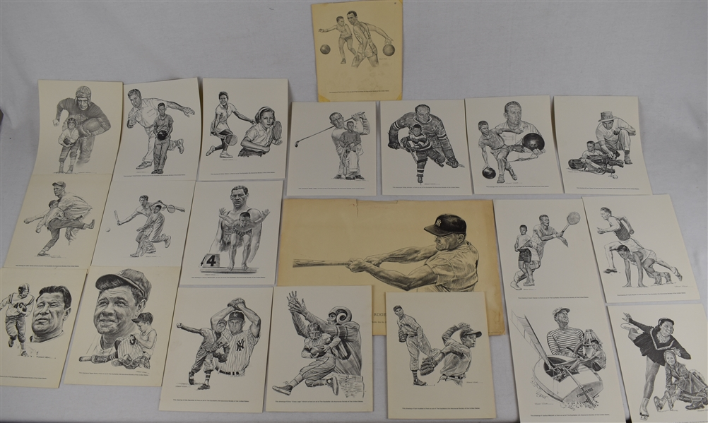 Robert Riger Prints w/1961 Roger Maris