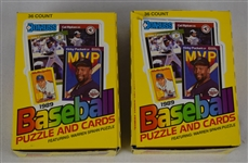 Lot of 2 Vintage 1989 Donruss Wax Pack Boxes