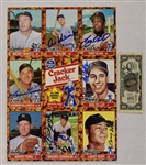 Cracker Jack Autographed Card Sheet & Early Battey Signed Bill