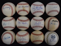 Collection of 12 Autographed Baseballs w/Al Barlick