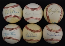 Collection of 6 Autographed Baseballs w/Al Kaline