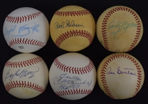 Collection of 6 Autographed Baseballs w/Early Wynn