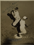Lou Gehrig Autographed & Inscribed First Generation Wire Photo JSA LOA