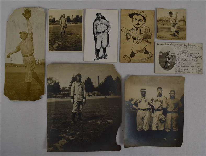 Collection of 8 Vintage Baseball Photographs