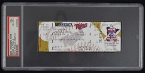 Cal Ripken Jr. 3,000th Hit Ticket PSA 8