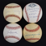 Collection of 5 Autographed Baseballs w/Tom Lasorda