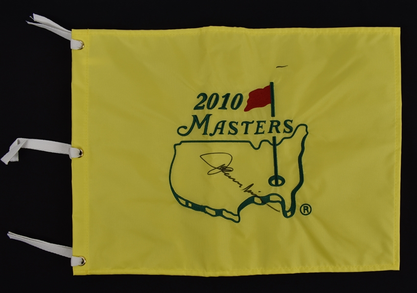 Johnny Miller Autographed Masters Golf Pin Flag