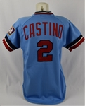 John Castino 1982 Minnesota Twins Game Used Jersey