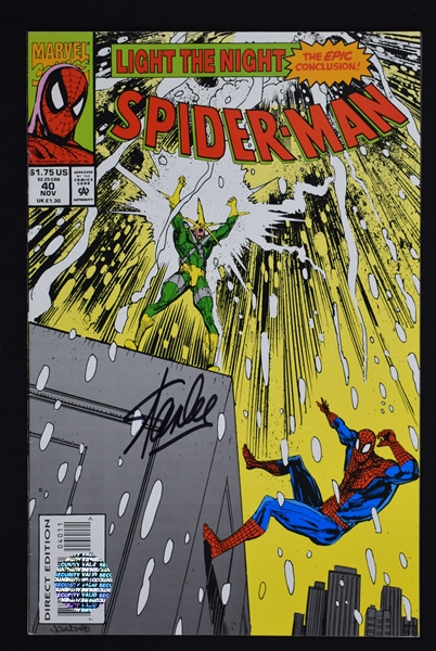 Stan Lee Autographed Light of Night Spiderman Comic