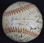 Detroit Tigers 1937 Team Signed Baseball w/Hank Greenberg JSA LOA