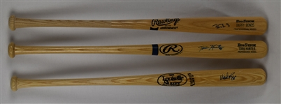 Barry Bonds Tori Hunter & Wade Boggs Autographed Bats