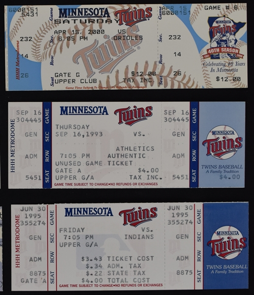 Collection of 3,000th Hit Tickets w/2 Signed by Molitor