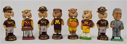 Minnesota Gophers Collection of 8 Bobbleheads