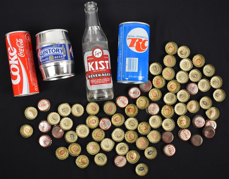 Vintage Collector Cans & Bottle Top Collection