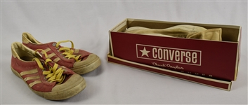 Vintage 1970s Adidas Shoes & 1960s Chuck Taylor Converse Wrestling shoes w/Original Box