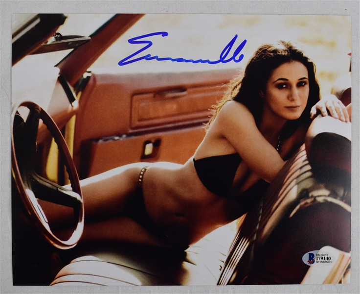 Emmanuelle Chriqui Autographed 8x10 Photo From You Don't Mess with the Zohan Beckett COA