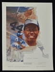 Hank Aaron Autographed & Inscribed Career HR #724 Cliff Spohn Limited Edition #724/755 Lithograph