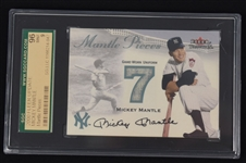 Mickey Mantle 2000 Fleer Game Used Jersey Card SGC 96