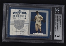 Mickey Mantle 2002 Upper Deck Game Used Uniform Card BGS 9