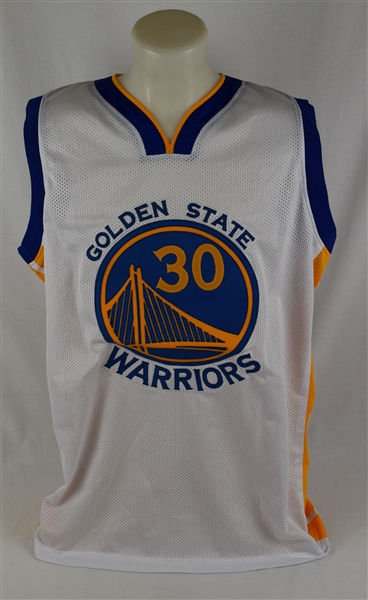 Steph Curry Autographed Golden State Warriors Home White Jersey PSA/DNA