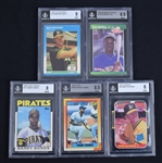 Collection of 5 BGS Graded Cards w/Ken Griffey Jr. Mark McGwire & Frank Thomas
