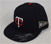 Miguel Sano 2015 Game Used & Autographed Rookie Hat MLB Authentication