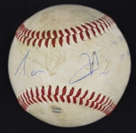 Aaron Hicks 2010 Game Used & Autographed Minor League Home Run Baseball