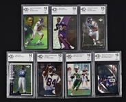 Randy Moss 1998 Lot of 7 Beckett Graded Rookie Cards