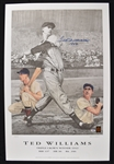 Ted Williams Autographed 1942 Triple Crown Lithograph #109/521 PSA/DNA