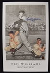Ted Williams Autographed 1942 Triple Crown Lithograph #110/521 PSA/DNA