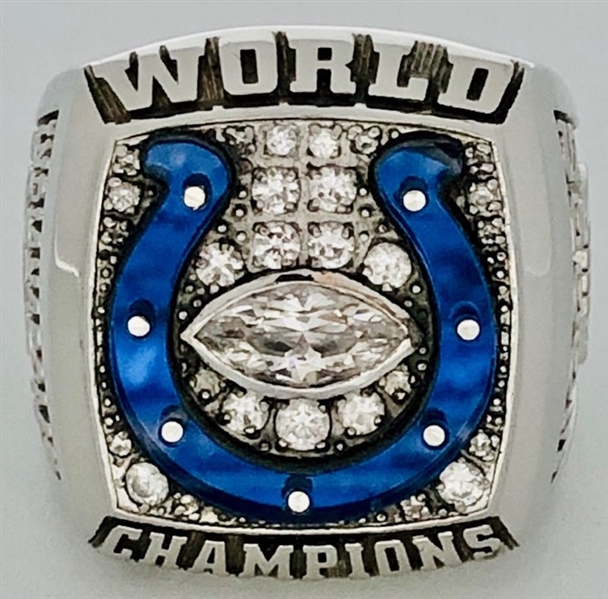 Indianapolis Colts 2006 Super Bowl XLI Championship Ring 10k Gold w/Diamonds Made by Herff Jones
