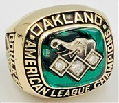 Oakland Athletics 1990 American League Championship Ring 10k Gold w/Diamonds Made by Jostens