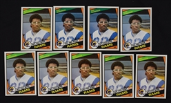 Eric Dickerson 1984 Lot of 9 Rookie Cards