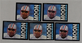 Warren Moon 1985 Topps Lot of 5 Rookie Cards