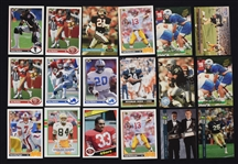Collection of Football Cards w/Barry Sanders & Joe Montana