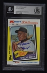 Willie Mays Autographed TBC K-Mart Card BAS