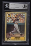 Barry Bonds Autographed Limited Edition 1987 Topps Rookie Card BAS