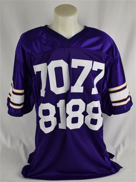 Minnesota Vikings Purple People Eaters Autographed Embroidered Stat Jersey