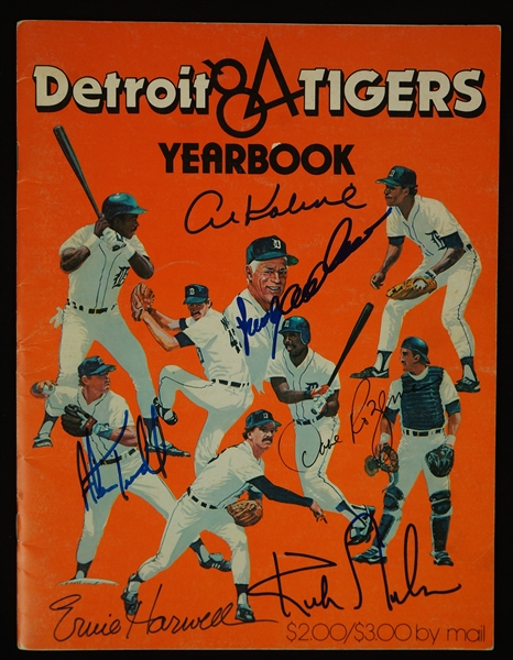 Detroit Tigers 1984 Signed Yearbook & Sparky Anderson/Kirk Gibson Signed Baseball