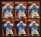 Eddie George Lot of 6 Autographed Rookie Cards